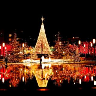 Merry Christmas Greeting Card - Obrázkek zdarma pro iPad