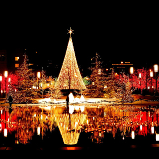 Merry Christmas Greeting Card - Obrázkek zdarma pro iPad Air