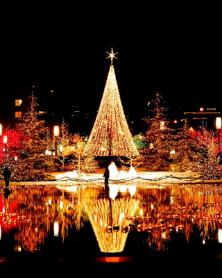 Merry Christmas Greeting Card - Obrázkek zdarma pro Nokia Asha 203