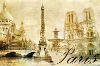 Paris, Sacre Coeur, Cathedrale Notre Dame Background for Android, iPhone and iPad