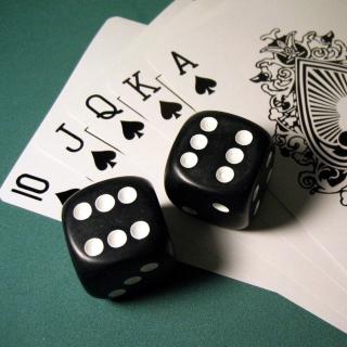 Gambling Dice and Cards - Obrázkek zdarma pro 2048x2048