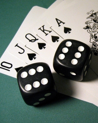 Gambling Dice and Cards - Obrázkek zdarma pro Nokia X7