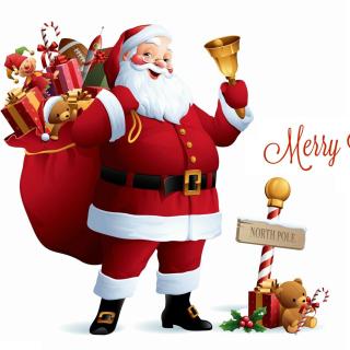 HO HO HO Merry Christmas Santa Claus - Obrázkek zdarma pro 1024x1024