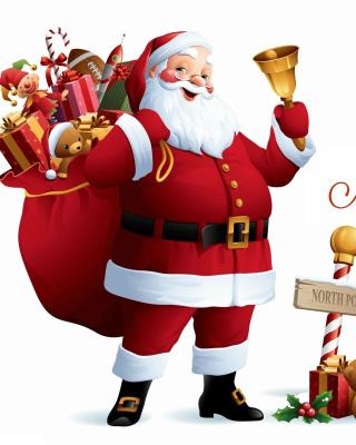 HO HO HO Merry Christmas Santa Claus - Obrázkek zdarma pro Nokia Lumia 710