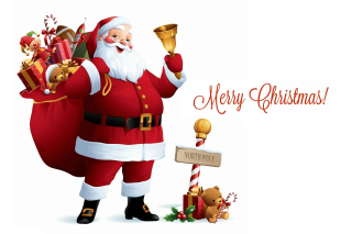 HO HO HO Merry Christmas Santa Claus Background for Android, iPhone and iPad