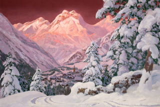 Alois Arnegger Painting Background for Android, iPhone and iPad