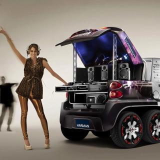 Music Smart Car - Obrázkek zdarma pro iPad