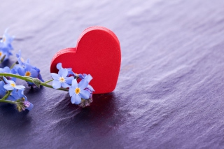 Heart And Flowers Wallpaper for Android, iPhone and iPad