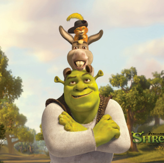 Shrek Donkey Puss In Boots - Obrázkek zdarma pro iPad mini