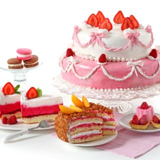 Strawberry biscuit cake - Obrázkek zdarma pro iPad mini