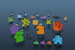 Funny Puzzle - Obrázkek zdarma pro 1920x1408