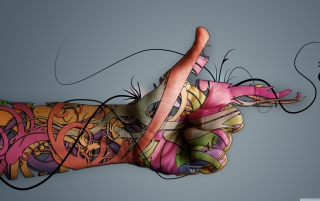 Creative Hand Background for Android, iPhone and iPad