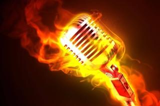Картинка Microphone in Fire чтобы 0280x720