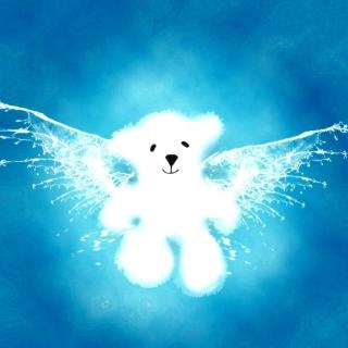 Angel Bear - Obrázkek zdarma pro 1024x1024