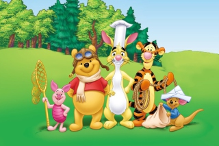 Pooh and Friends Background for Android, iPhone and iPad
