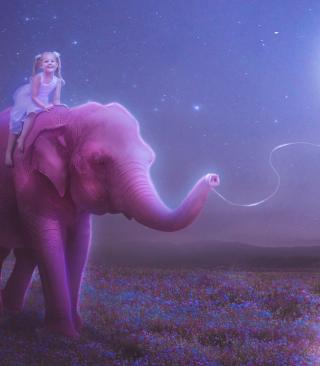 Child And Elephant - Obrázkek zdarma pro Nokia C1-01