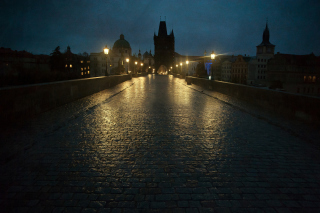 Night In Prague Background for Android, iPhone and iPad