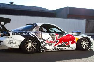 Mad Mike RedBull RX7 Drifting - Obrázkek zdarma pro 176x144