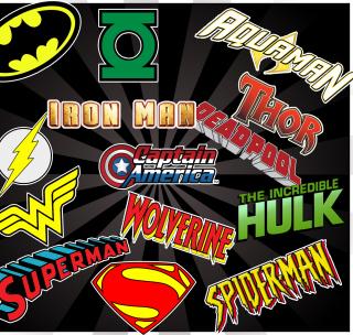 Superhero Logos - Obrázkek zdarma pro 208x208