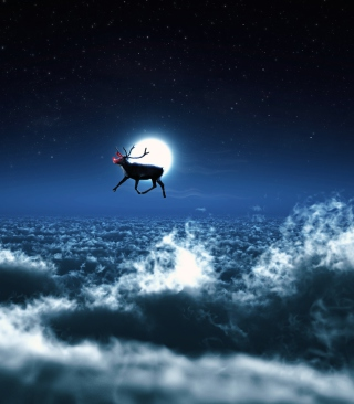 Santa's Reindeer - Obrázkek zdarma pro Nokia X6