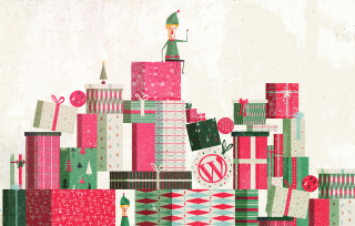Christmas Presents Background for Android, iPhone and iPad