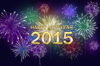 New Year Fireworks 2015 Background for Android, iPhone and iPad