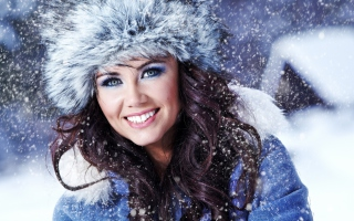 Free Miss Snowflake Picture for Android, iPhone and iPad