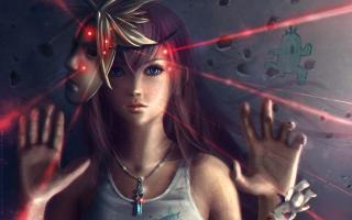 Final Fantasy Girl - Obrázkek zdarma pro 1366x768