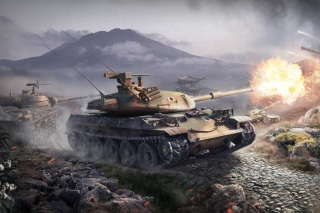 World Of Tanks Battle - Obrázkek zdarma pro Samsung Galaxy S6 Active
