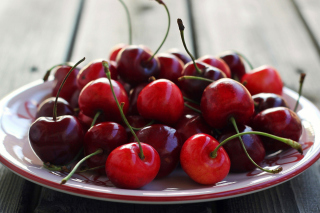 Cherry Plate Picture for Android, iPhone and iPad
