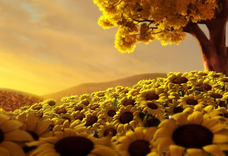 Sunflower World wallpaper