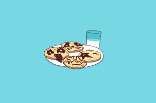 Funny Cookies Background for Android, iPhone and iPad