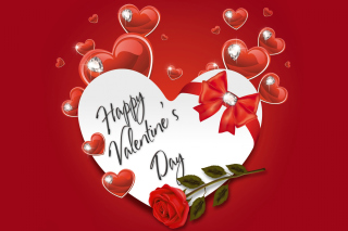 Valentines Day Present Wallpaper for Nokia Asha 200