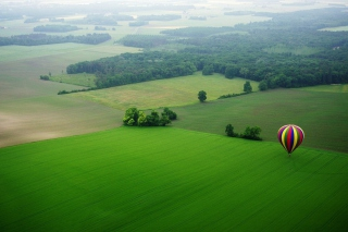 Balloon And Beautiful Landscape Background for Android, iPhone and iPad