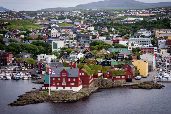 Torshavn City on Faroe Island wallpaper