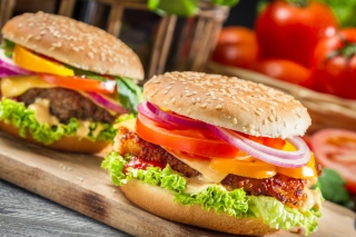 Fast Food Burgers Wallpaper for Android, iPhone and iPad