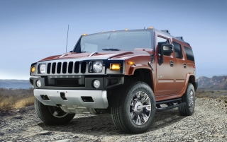 Hummer H2 Sedona Metallic Chrome Background for Android, iPhone and iPad