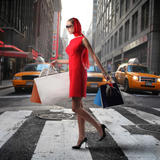 Lady From Boutique In New York - Obrázkek zdarma pro 320x320