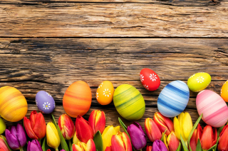 Easter bright eggs Wallpaper for Android, iPhone and iPad