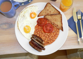 English Breakfast Background for Android, iPhone and iPad
