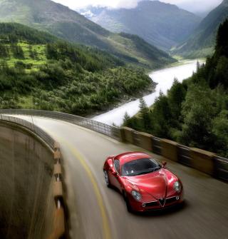 Red Alfa Romeo 8C - Obrázkek zdarma pro 320x320