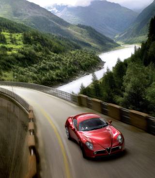 Red Alfa Romeo 8C - Obrázkek zdarma pro Nokia C7