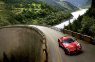 Red Alfa Romeo 8C - Obrázkek zdarma pro 800x480