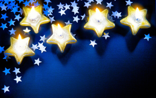 Christmas Stars Wallpaper for Android, iPhone and iPad