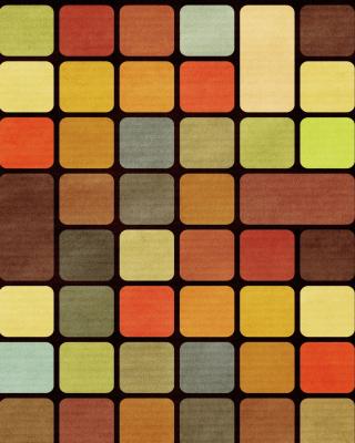 Rubiks Cube Squares Retro - Obrázkek zdarma pro 360x640