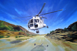 Free Soviet Russian Helicopter Mi-8 Picture for Android, iPhone and iPad