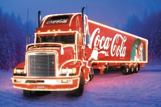 Free Coca Cola Christmas Truck Picture for Android, iPhone and iPad