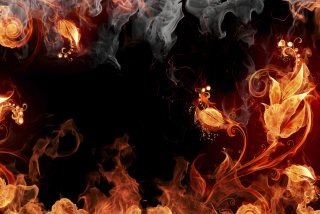 Amazing Fire Mix Picture for Android, iPhone and iPad