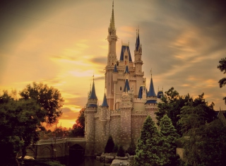 Vintage Castle Background for Android, iPhone and iPad