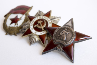 World War 2nd USSR Victory Award Medals Background for Android, iPhone and iPad